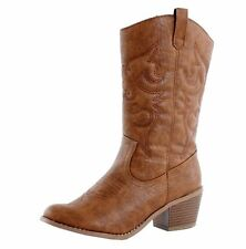Women Ladies Wild West Western Cheap Cowboy Cowgirl Boots Sexy Tan Brown Stylish