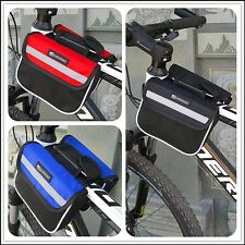 Cycling Bag Bicycle Top Frame Pannier Front Tube Double Saddle Mountain Bike Bag