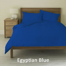 TRUE 1000TC 100% COTTON ROYAL BLUE SOLID BEDDING SETS CHOOSE DESIRED ITEM & SIZE