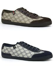 New Gucci Mens GG Plus Lace-up Trainer Sneaker w/Web Detail 204282