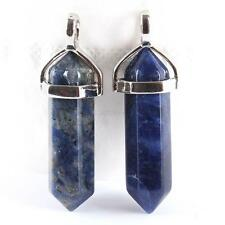 Hexagonal Point Pendant Natural Crystal Chakra Gemstone Jewelry Necklace Beads