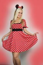 Sexy Women Halloween Minnie Mouse Fancy Dress Costume Outfit 8-14
