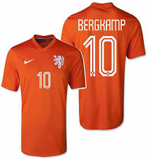 NIKE DENNIS BERGKAMP NETHERLANDS HOME JERSEY FIFA WORLD CUP BRAZIL 2014 HOLLAND