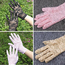 Women's Sexy Colour Lace Wrist UV Protection Sun Dressing Driving gloves