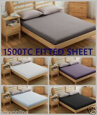 1500TC Egyptian Cotton  1 Piece Bed Fitted Sheet (No Flat Sheet or Pillowcase)