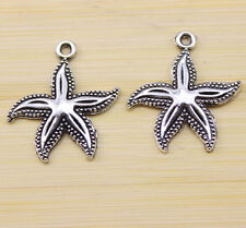 20/40/100 PCS wholesale Very lovely Tibetan silver starfish charm pendant