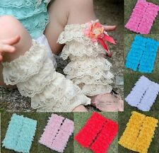 Tutu Baby Girls Lace Petti Ruffles Leg Warmers for Rompers 1-6Y One Size US389