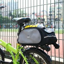 Bicycle Bag Bike Rear Pack Seat Cycling Pannier Waterproof Trunk Carrier Black