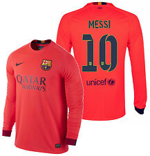 NIKE LIONEL MESSI FC BARCELONA LONG SLEEVE AWAY JERSEY 2014/15