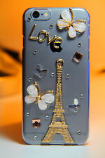 Luxury 3D Bling Rhinestone Diamond Hard Case Cover for Apple iPhone (TwrBflyLV)