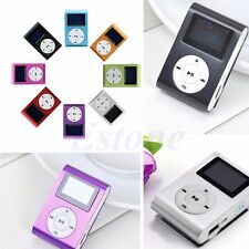USB Mini Music Clip MP3 Player LCD Screen Support 16GB Micro SD TF Card