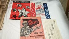 LOT OF 16 VINTAGE SHEET MUSIC MIXED BING CROSBY CLIFF FRIEND MARCHES