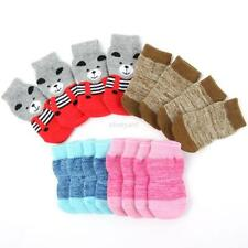 4pcs/set Warm Outdoor Pet Dog Cat Puppy Anti-slip Knit Weave Socks Skid Bottom
