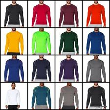 Under Armour Men's ColdGear Compression Mock Neck Long Sleeve Gym Shirt - NEW