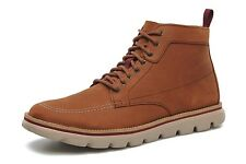 "MENS SKECHERS ON THE GO ""FRONTIER"" LEATHER LACE UP BROWN ANKLE BOOTS 53571"