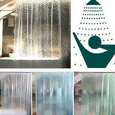 New Clear Thicker PEVA Diamond Bath Shower Curtain 3D Water Cube Mold Water