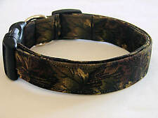 Charming Brown & Green Hunting Camouflage Dog Collar
