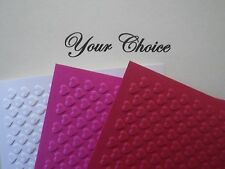 A2 Embossed Paper Cardstock Card Fronts Toppers Photo Mat Mini Valentine Hearts