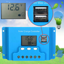 12V/24V Auto Solar Panel Charge Controller Battery Regulator 10A/20A/30A USB BS