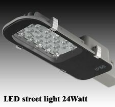 24W LED Road Street Flood Light IP65 Garden Lamp Head Outdoor Warm or White