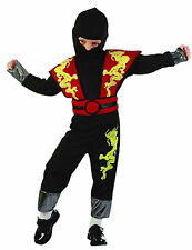 BOYS GIRLS NINJA WARRIOR ASSASSIN FANCY DRESS PARTY TODDLER COSTUME 2-4 YRS