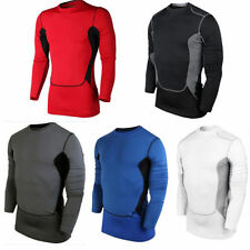 Mens Compression Base Layer Skins Thermal Top Long Sleeve Sports Running T-Shirt