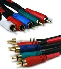 RCA Component Cable RG59/U RGB Video Cords Stereo Audio for Blu-Ray DVD TV Long