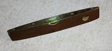 VINTAGE RABONE AND CHESTERMAN WOODEN SPIRIT LEVEL WITH BRASS FACE