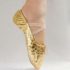 Hot Sell Adults Sequins Soft Shoes Girls Ballet ance Shoes Pointe Gymnastics T13