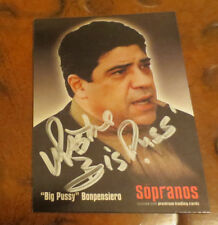 Vincent Pastore signed autographed card Big Pussy on Sopranos broccoli wad