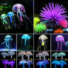 Soft Artificial Fake Coral Jellyfish Fish Tank & Aquarium Ornament Decorations
