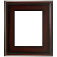 """CLASSIC MODERN PHOTO PICTURE ART PAINT FRAME PLEIN AIR WOOD BROWN LEAF 3"""" WIDE +"""
