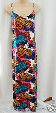 BNWT NEXT New Ladies Strappy summer floral bright print lightweight maxi dress T