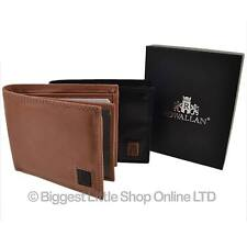 NEW Mens Soft Cowhide Leather Bi-Fold WALLET by Rowallan of Scotland Gift Box