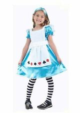 Girl Girls Alice In Wonderland Style Book Day Fancy Dress Costume Various Sizes