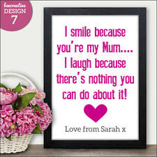 Personalised Mum Mummy Mothers Day Gifts Presents Cards - Mothers Day Gifts