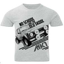 No School Like The Old Skool Escort mk1 Retro Sports Rally Car Mens T Shirt