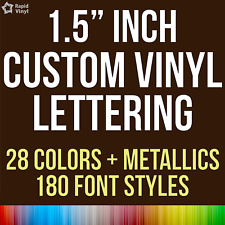 """1.5"""" Custom Vinyl Lettering Text Name Wall Window Decal Sticker Art Personalized"""