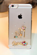 Luxury 3D Bling Rhinestone Diamond Hard Case Cover for Apple iPhone (HHShoe)