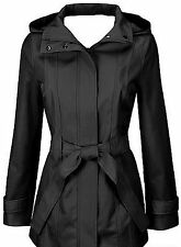 Calvin Klein women's jacket belted trench coat black red brown hooded raincoat