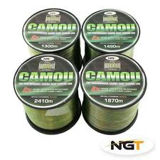 Ngt Camo Carp Fishing Line Bulk Spool VARIOUS SIZES