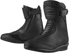 2015 Icon 1000 Eastside Womens Waterproof Leather Motorcycle Riding Street Boot