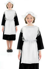 Childrens Victorian Girl Fancy Dress Costume Servant Maid Book Week 6-12 Yrs