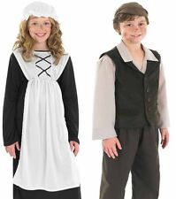Childrens Street Urchin Boy Girl Fancy Dress Costume Victorian BookWeek 6-12 Yrs