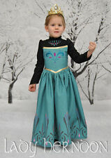 NWT Frozen Princess Dress Anna Elsa Queen Girls Cosplay Costume Party Dresses