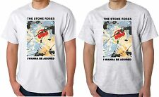 Stone Roses T Shirt I Wanna Be Adored Mens Unisex T Shirt Madchester Rock Band
