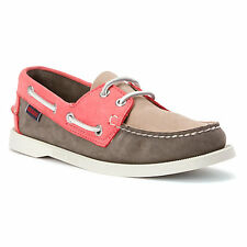 Women's Sebago™ Docksides Spinnaker Coral/Taupe Leather Boatshoes Sz