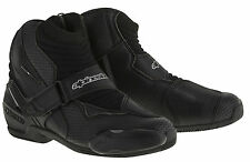 ALPINESTARS SMX-1 R Vented Low-Cut Motorcycle Riding Boots (Black) Choose Size