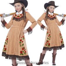 CK604 Annie Cowgirl Western Wild West Fancy Dress Up Girls Party Rodeo Costume
