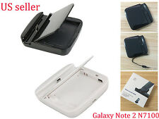 Desktop Cradle Sync Battery Charger Dock for Samsung Galaxy Note 2 N7100 USA